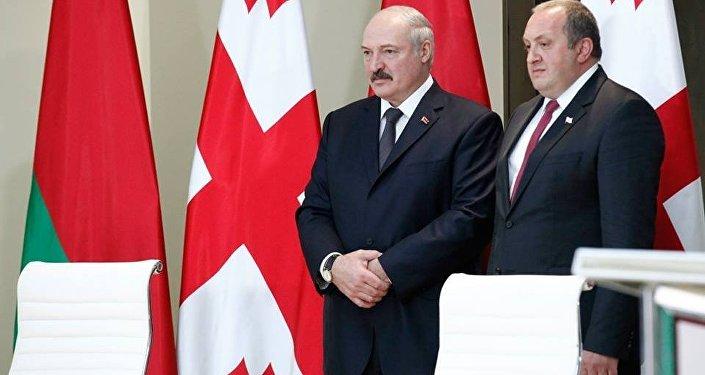 Александр Лукашенко и Георгий Маргвелашвили. Архивное фото