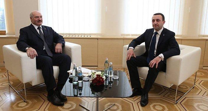 Ираклий Гарибашвили и Александр Лукашенко