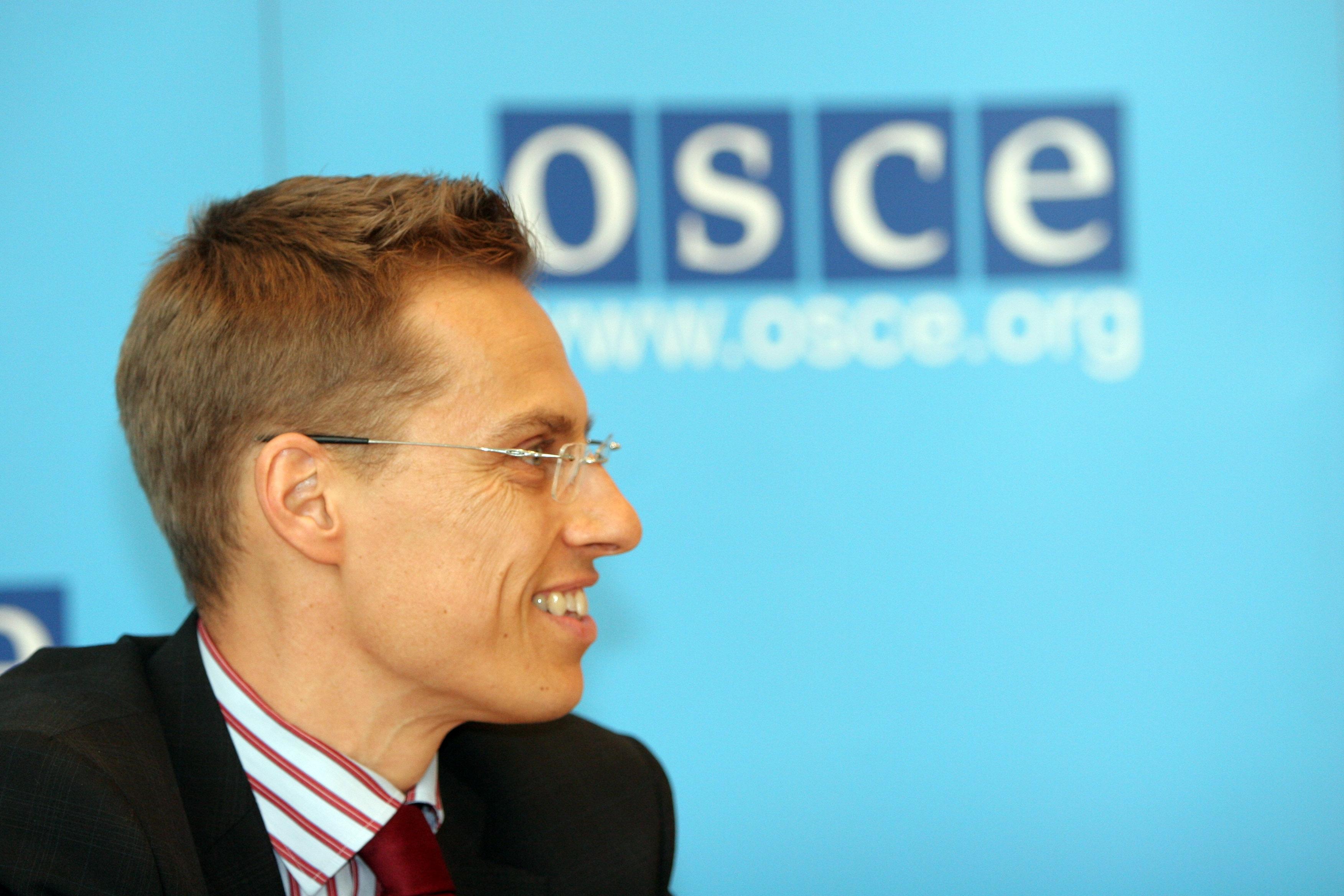 Председатель ОБСЕ Александр Стабб