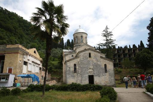 Церковь святого апостола Симона Кананита в Новом Афоне. Абхазия.