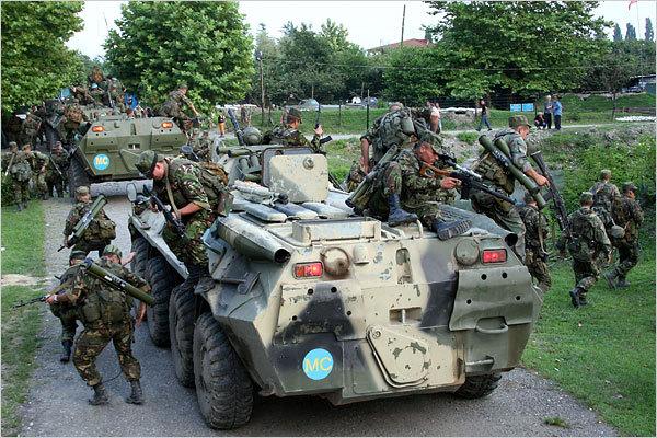 российские войска, Абхазия, август 2008