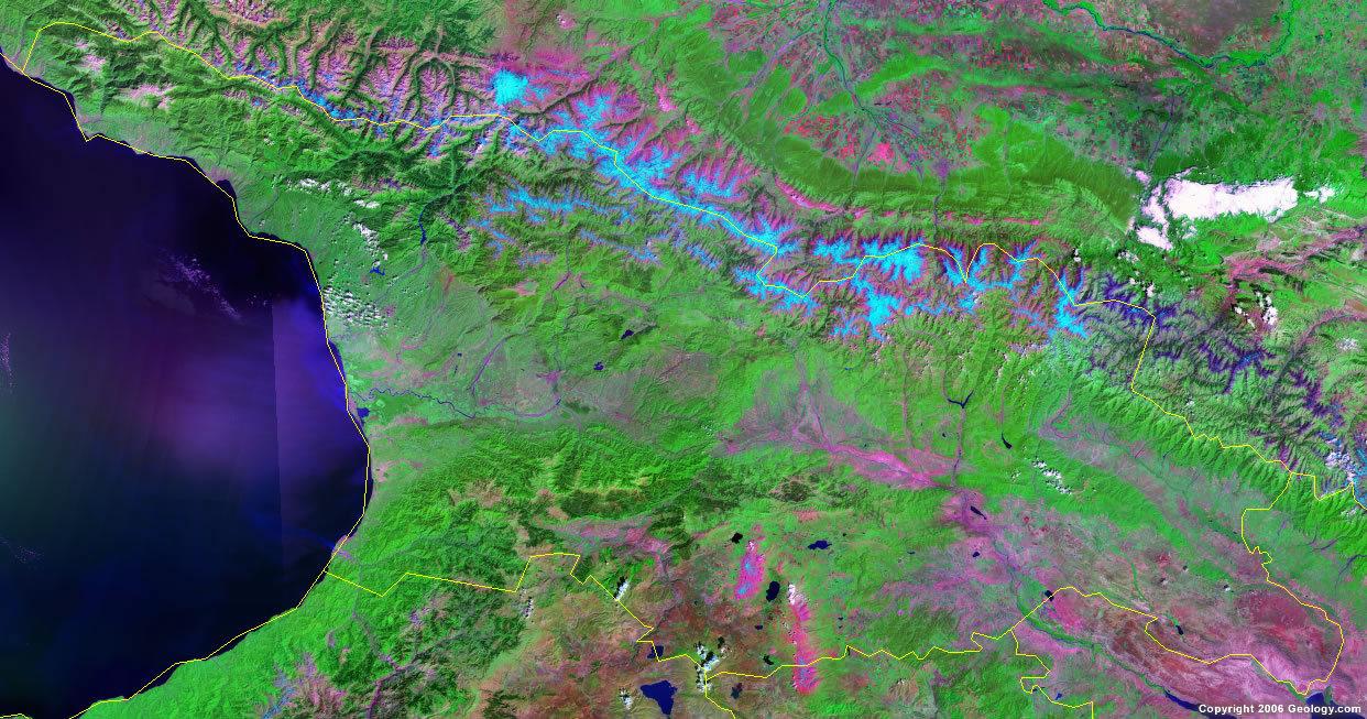 Спутниковая карта Грузии