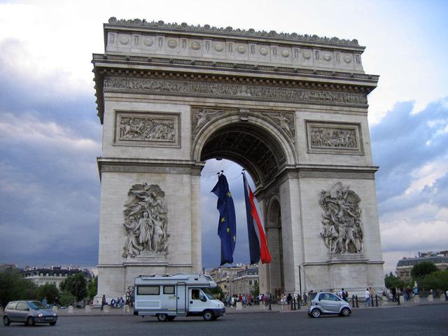Триумфальная арка, Париж, Франция