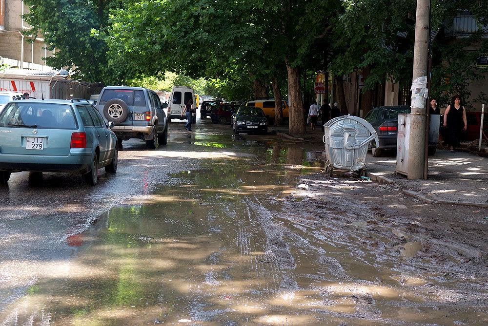 Тбилиси, улицы после дождя