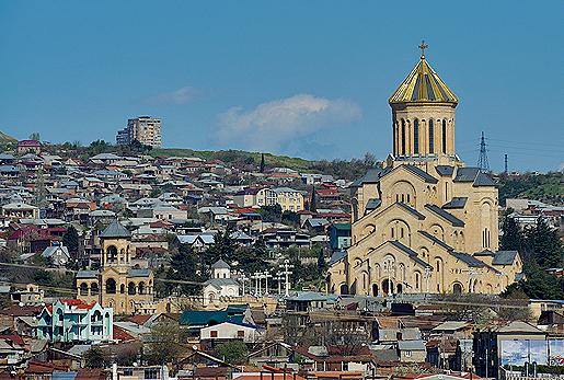 Собор Святой Троицы, Тбилиси, весна