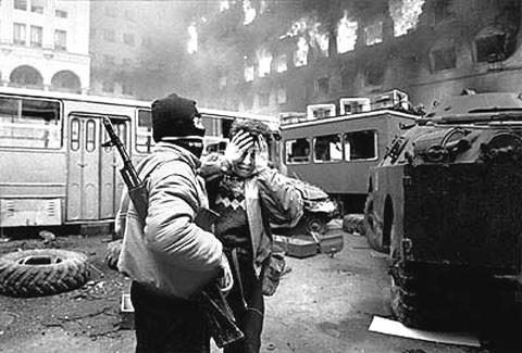 Тбилисская война, кадр из архива
