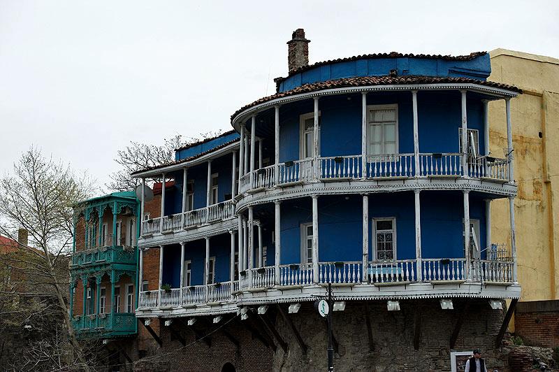 дома, старый Тбилиси