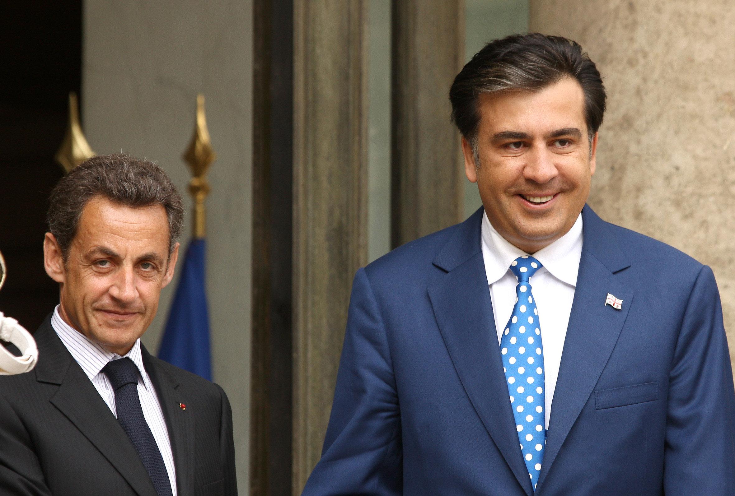 Саакашвили, Саркози
