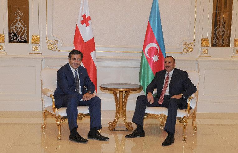 Михаил Саакашвили, Ильхам Алиев