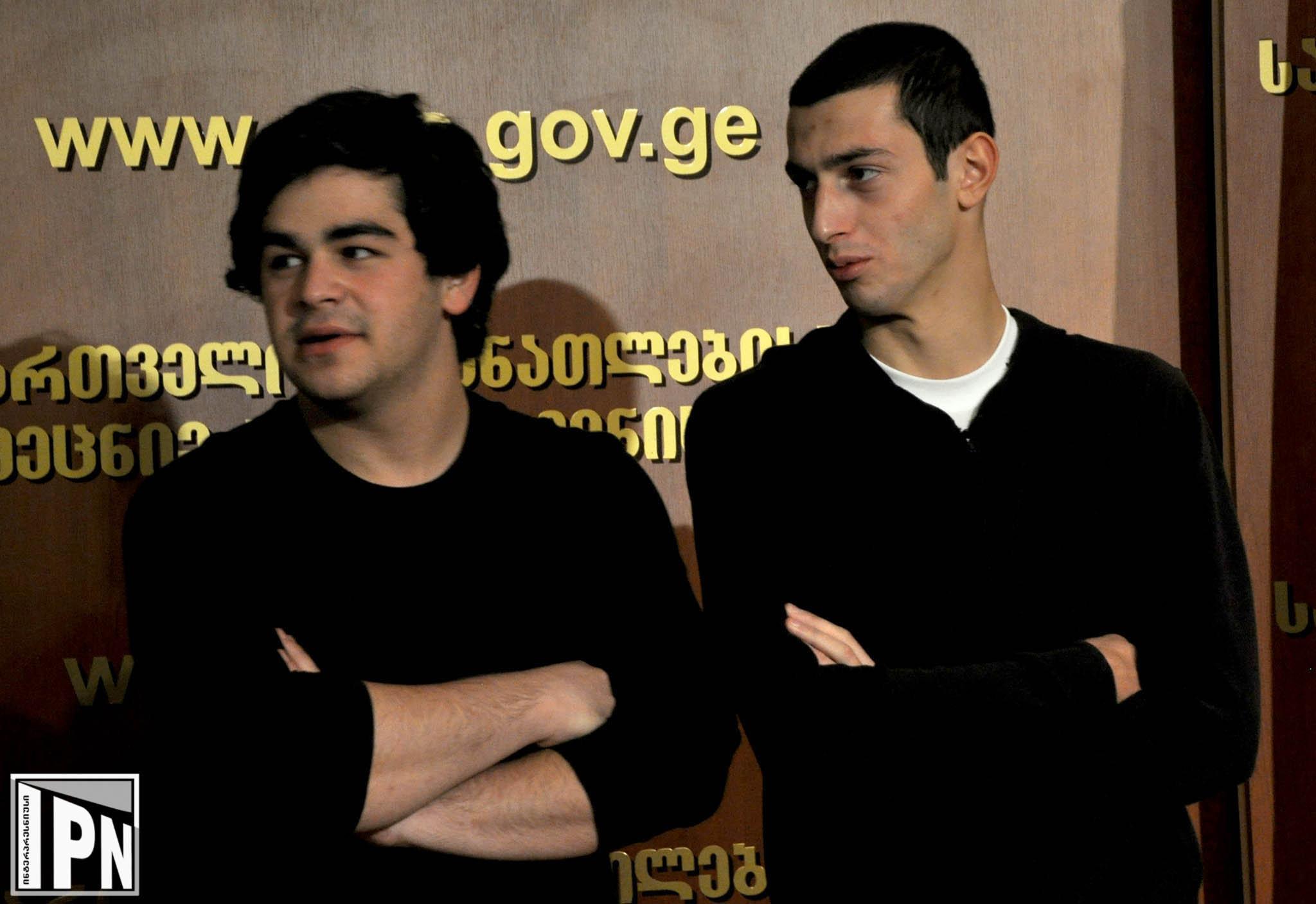 помилованные заключенные Леван Думбадзе (слева) Мераб Миндели (справа)