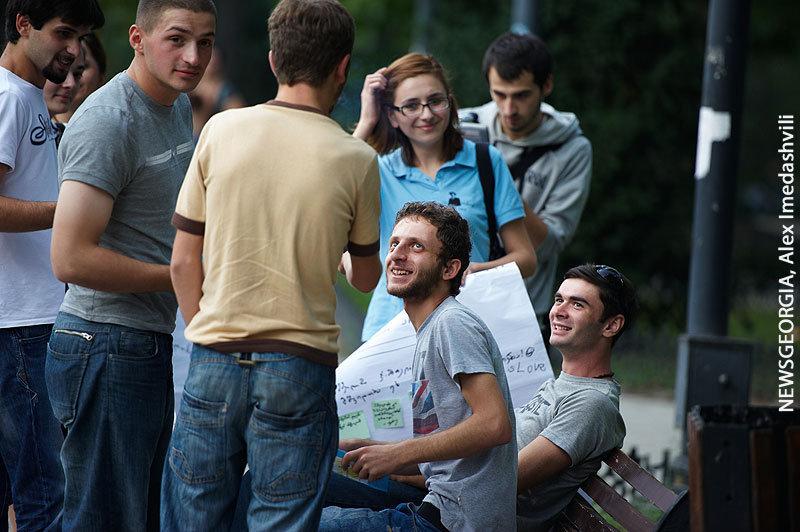 молодежь, студенты, люди