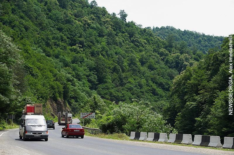дорога, трасса, горы, Рикотский перевал