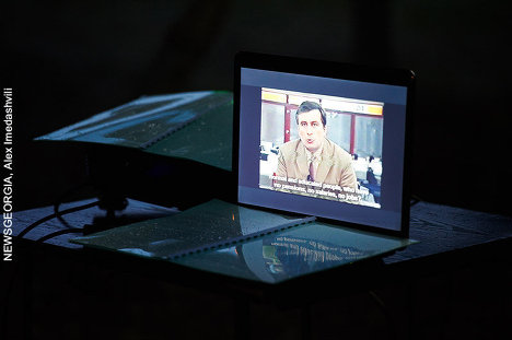 Михаил Саакашвили, трансляция записи архива