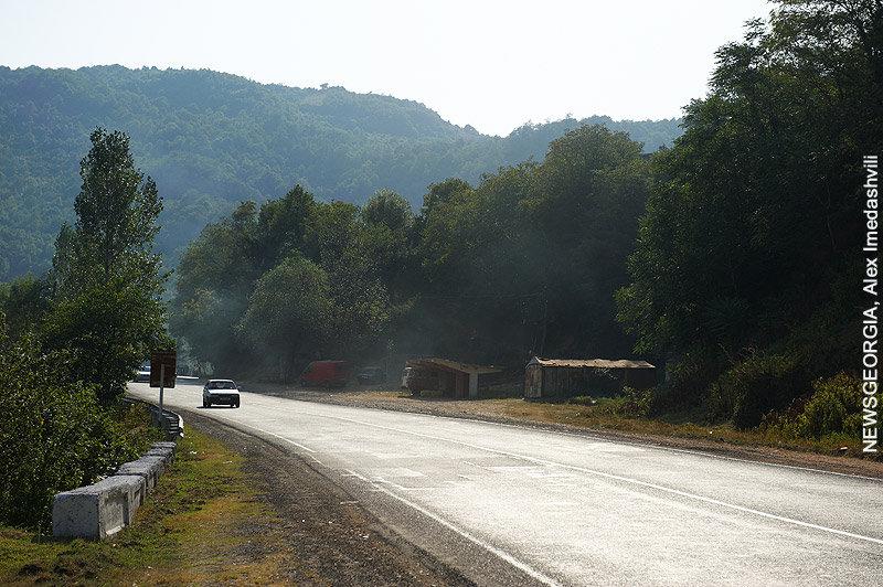 дорога, автотрасса, район, горы, Рикотский перевал