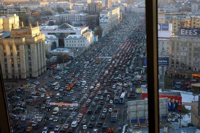 Москва, пробки