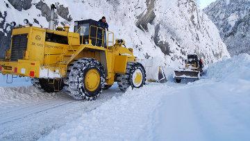 снег автотрасса дорога