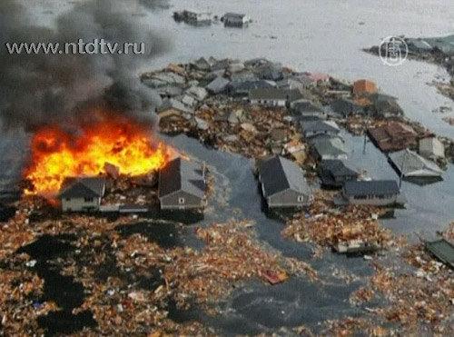 последствия землетрясения и цунами Япония