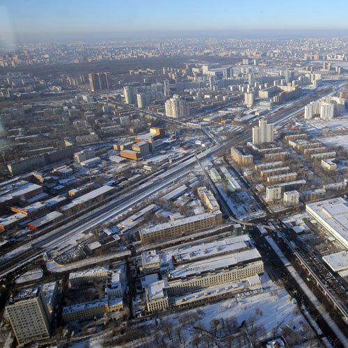 Москва зима