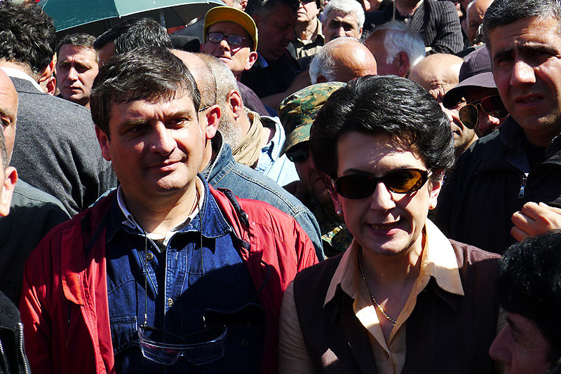 Ираклий Батиашвили и Нино Бурджанадзе