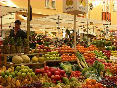 фрукты овощи рынок