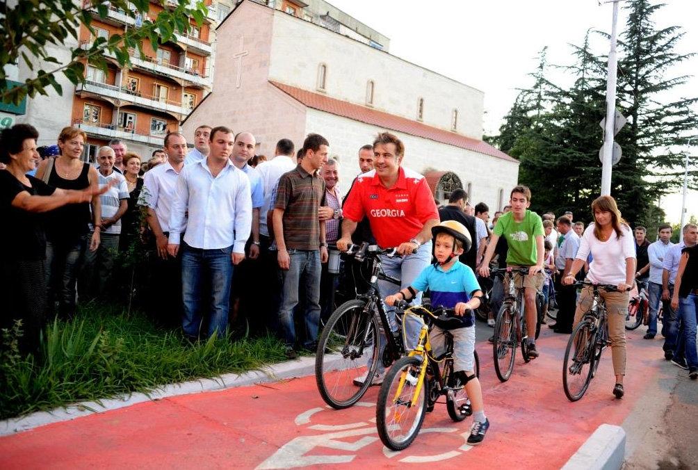 Михаил Саакашвили в Кутаиси