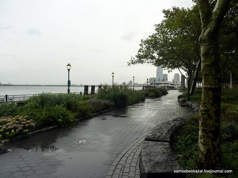 Нью-Йорк США перед ураганом