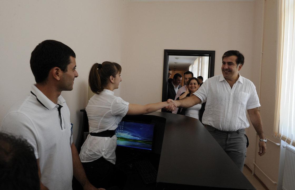 Михаил Саакашвили Поти колледж