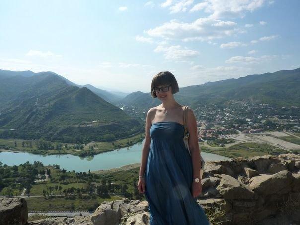 Вера Кичанова Джвари вид на Мцхета