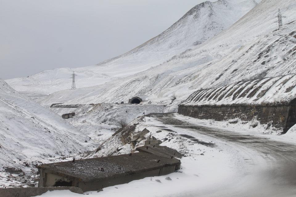 зима горы Крестовый перевал