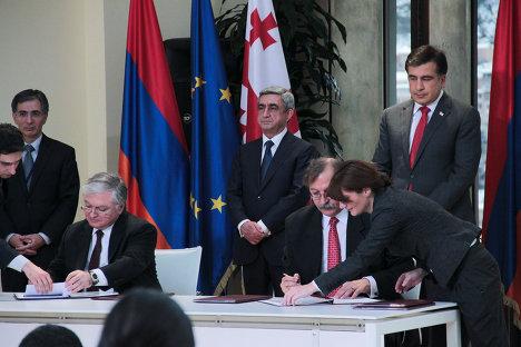 Михаил Саакашвили Серж Саргсян