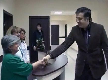 Саакашвили в Гори