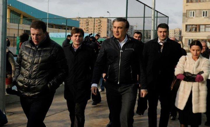 Михаил Саакашвили Гиги Угулава Ладо Вардзелашвили