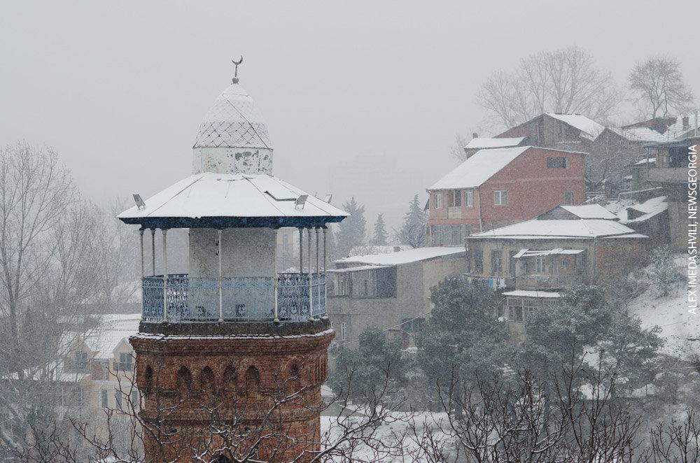 Тбилиси мечеть зима снег