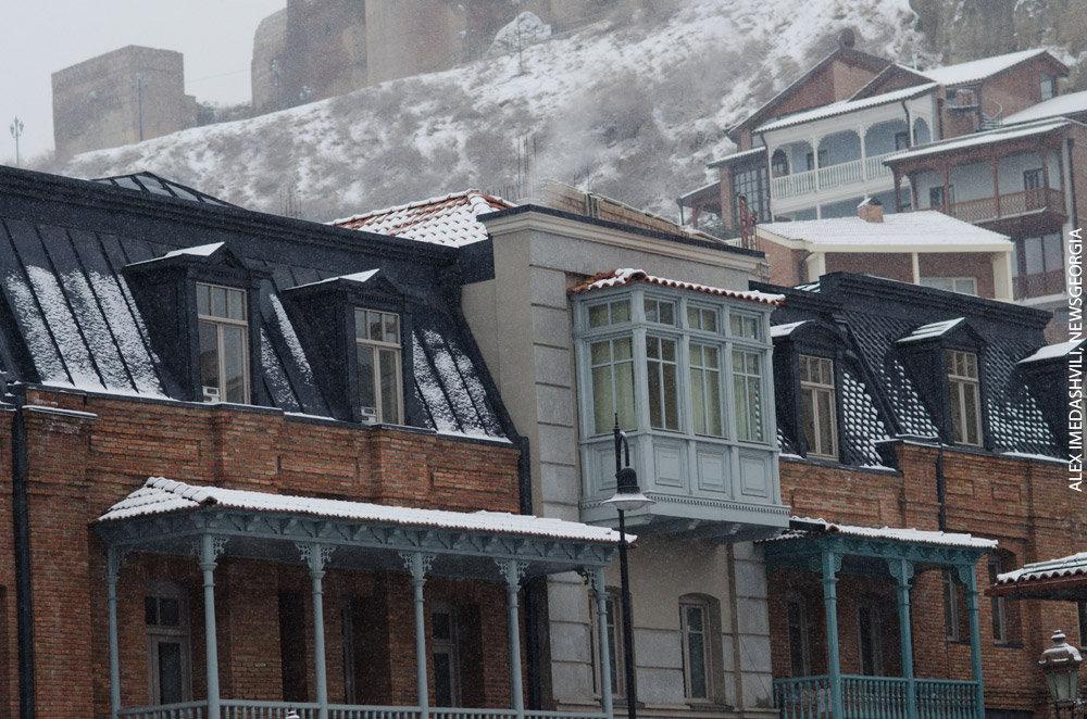 Тбилиси зима снег