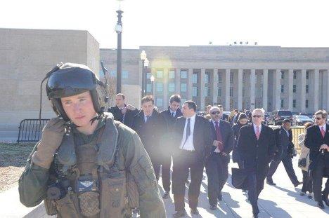 Михаил Саакашвили в Академии ВМС США