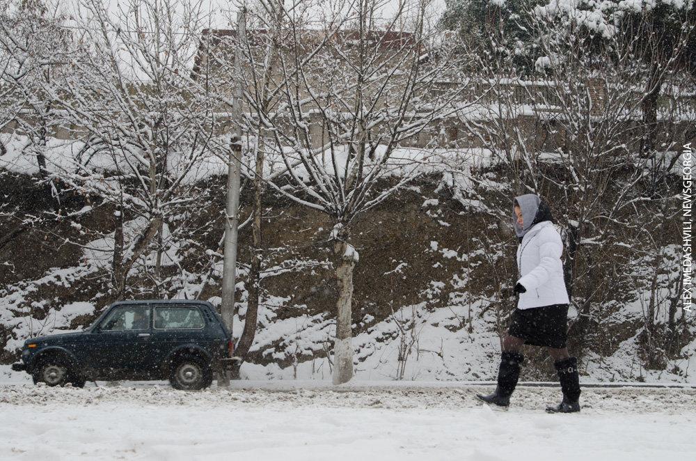 зима снег Тбилиси