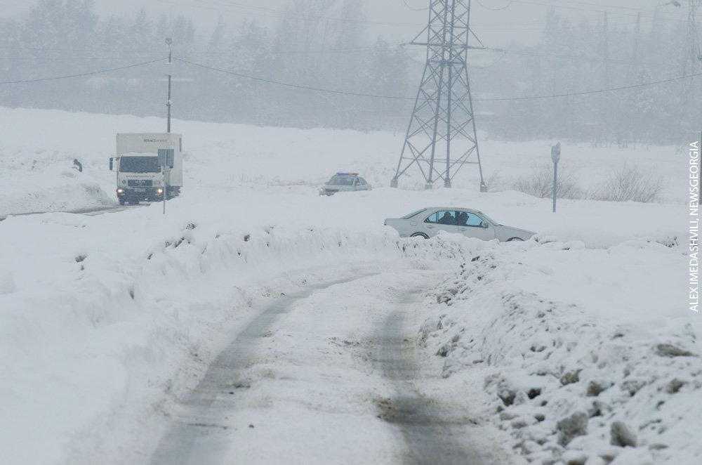 зима снег дороги