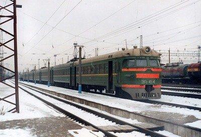 железная дорога снег зима