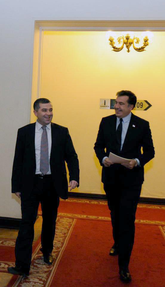 Давид Бакрадзе Михаил Саакашвили
