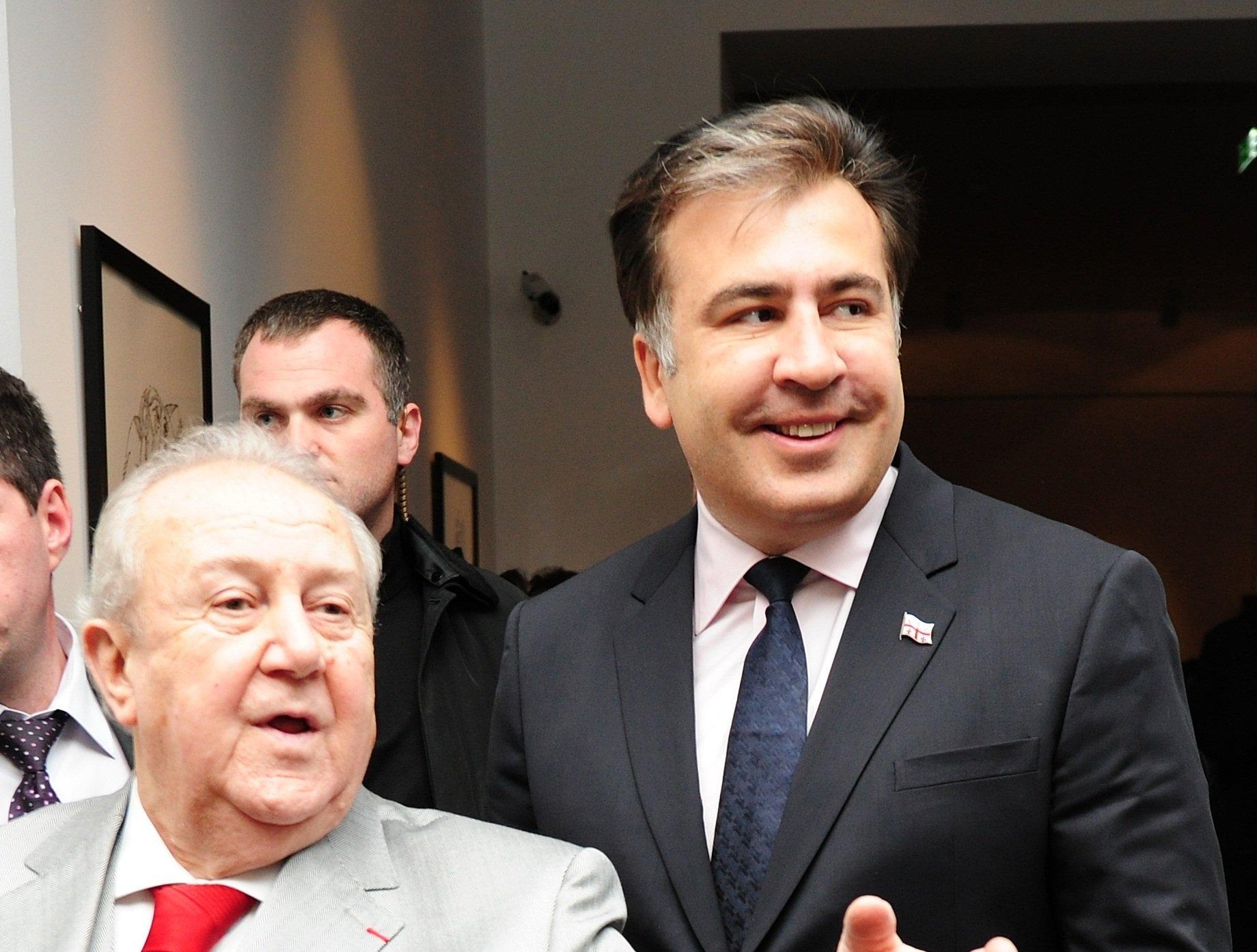 Михаил Саакашвили и Зураб Церетели