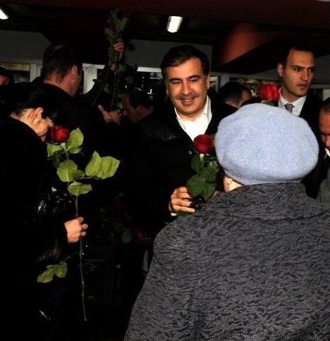 Михаил Саакашвили 8 марта