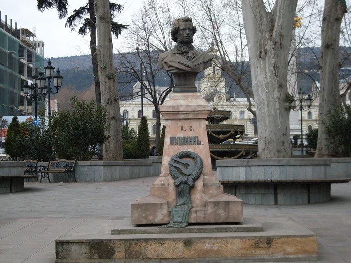 Пушкин, памятник в Тбилиси