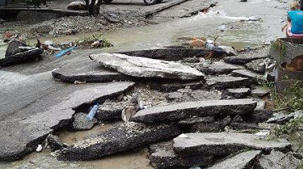 оползень наводнение