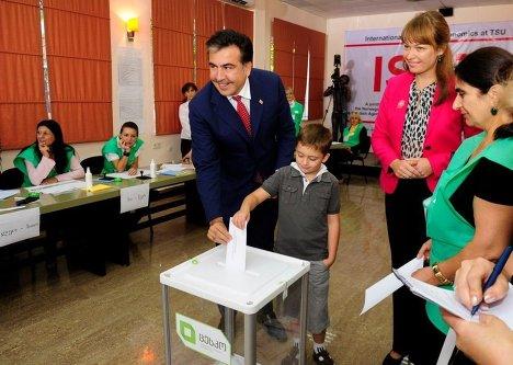 Михаил Саакашвили Сандра Руловс