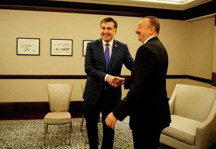 Михаил Саакашвили и Ильхам Алиев