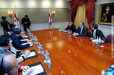 Георгий Маргвелашвили и делегация Израиля