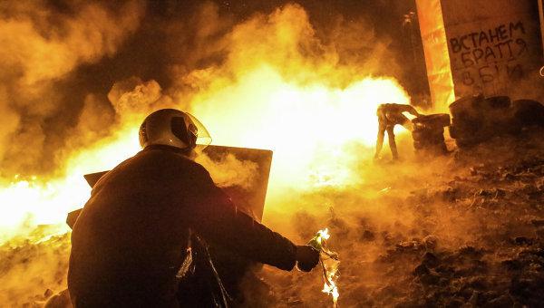 Киев пожары