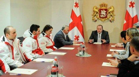 Георгий Маргвелашвили встречается с олимпийцами