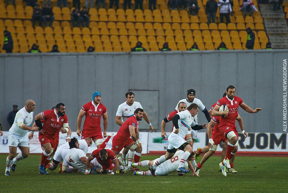 матч Грузии и России по регби