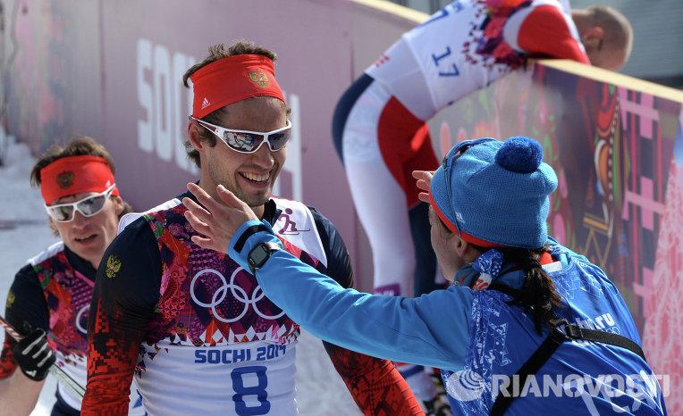 российские лыжники на Олимпиаде
